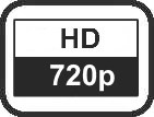 Auflösung HD 720p